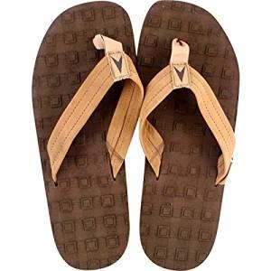 6322bde35728 Astrodeck Multi-Grip EVA   Leather Strap Brown Mens Sandals - Large   Size 8