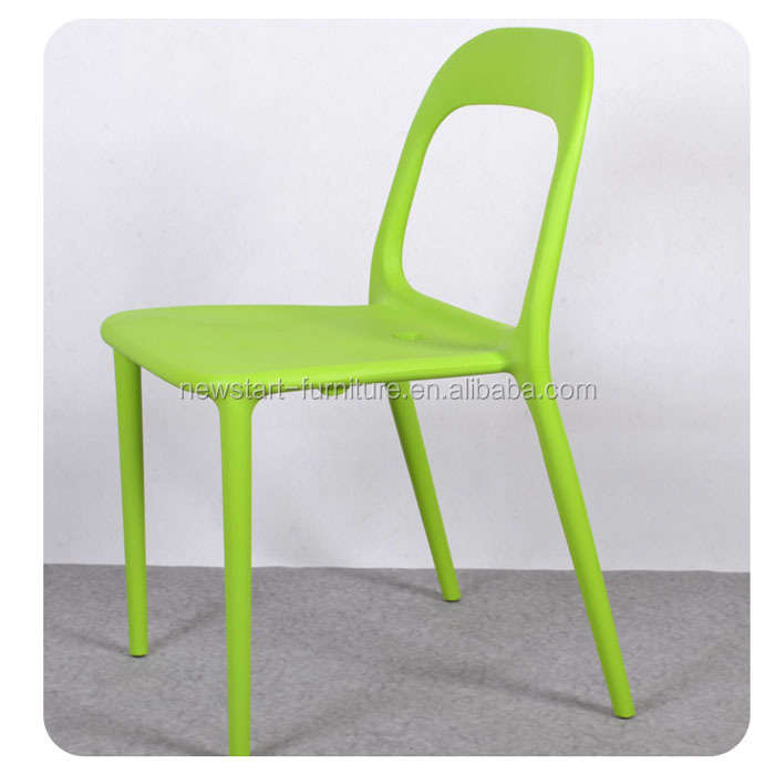 C49 green stackable Plastic Dining <strong>chair</strong> and round table