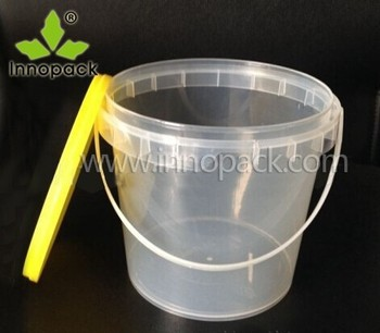 2l transparent plastic bucket for 2 kg honey/candy/paint/coating