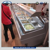 DSA25CCL1 Service Counter Warm Food Display Cases Used as Commercial kitchen Equipment