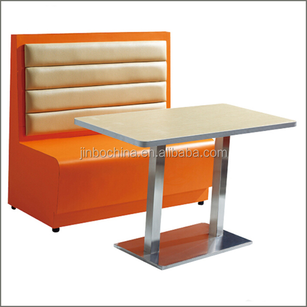 Single side leather restaurant sofa booth