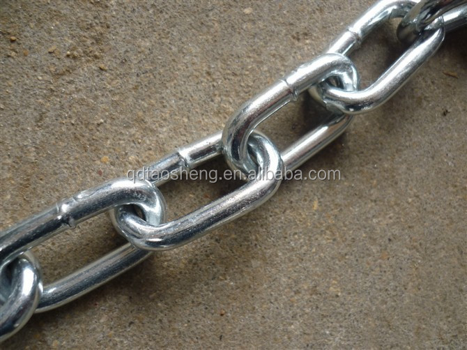 zinc plated ordinary mild steel link chain in gunny bag