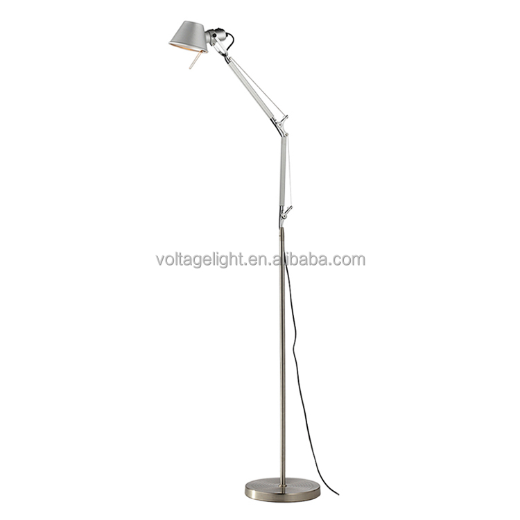 Metal Design Floor Standing Lamps High Quality LED Floor Lamp Adjustable Height Foldable Standing Lamp
