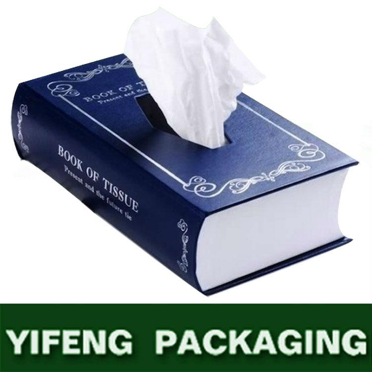 Exquisite Book Shape Tissue Paper Box,Handkerchief Box