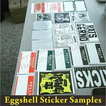 Free Eggshell Sticker Samples Pack Supply Manufacturer