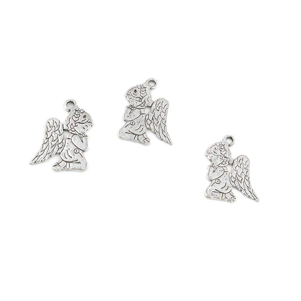 330 Pieces Jewelry Making Charms Retro Silver Tone for Necklace Pendant Bracelet Findings Vintage Bijoux Breloques Bulk 63001 Angel Cupid