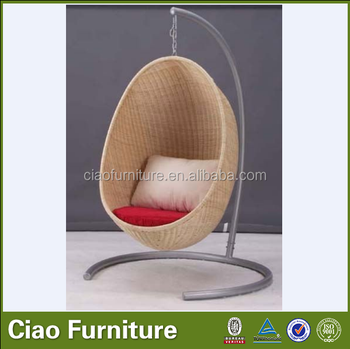 Rattan Outdoor Swing Chair Round Hanging Bed
