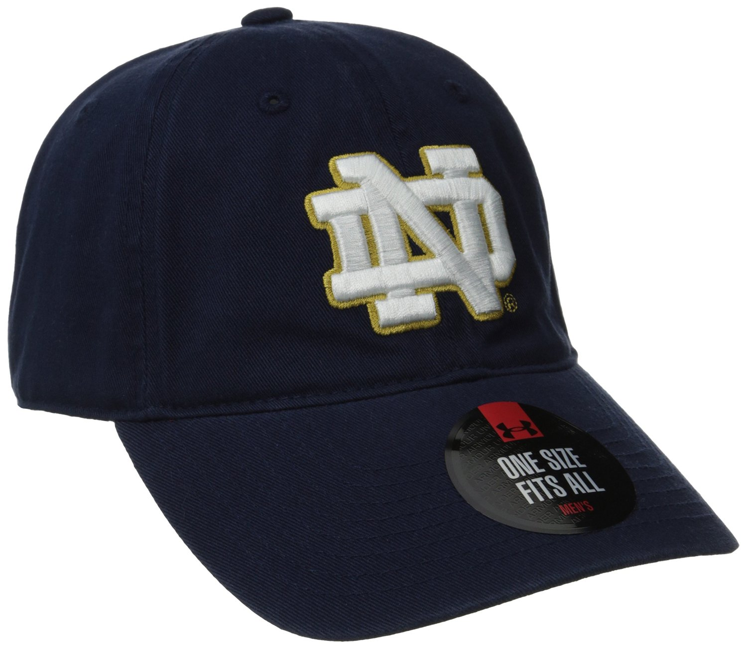 half off 0dc6b 2a109 Under Armour NCAA Notre Dame Fighting Irish Relaxed Cotton Adjustable Hat  Cap