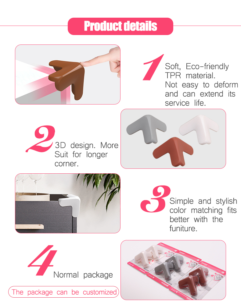 Hot Selling Keep Baby Safety Environment 3D TPR Corner Covers