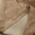China Factory custom 100% polyester 3 pass embossed blackout fabric