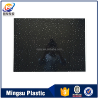 Black and white sparkle pvc wall panel for shower decor of united kingdom market