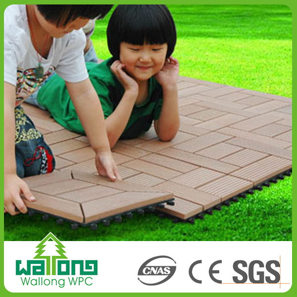 Non-slip wood composite decking tiles wpc tile free sample wpc diy board