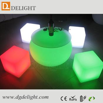 LED Cube Furniture Illuminated LED Cube Chair/ LED Modern Lounge Cube