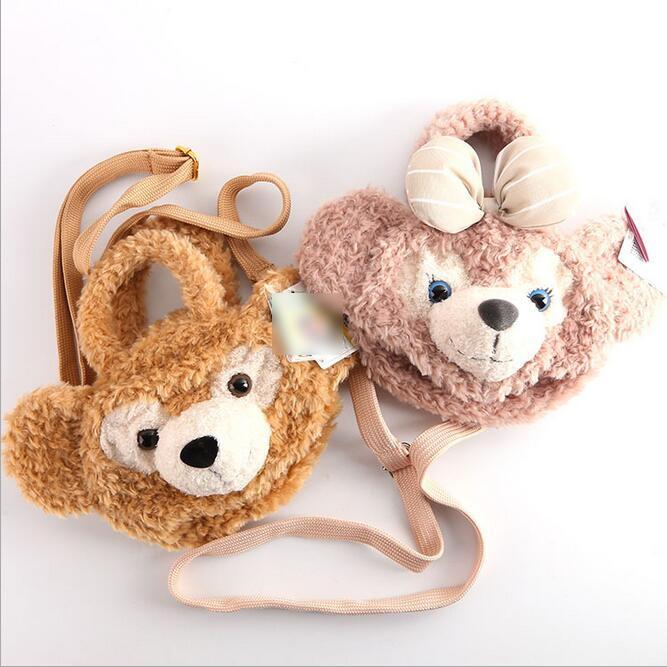 2016 Free shipping Duffy Bear plush cartoon hand bag satchel Girl cartoon change purse Plush Backpacks