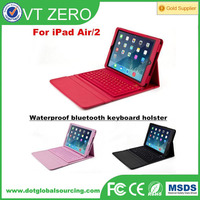 Bluetooth V3.0 Silicone Wireless Keyboard Leather Case For iPad Air 2