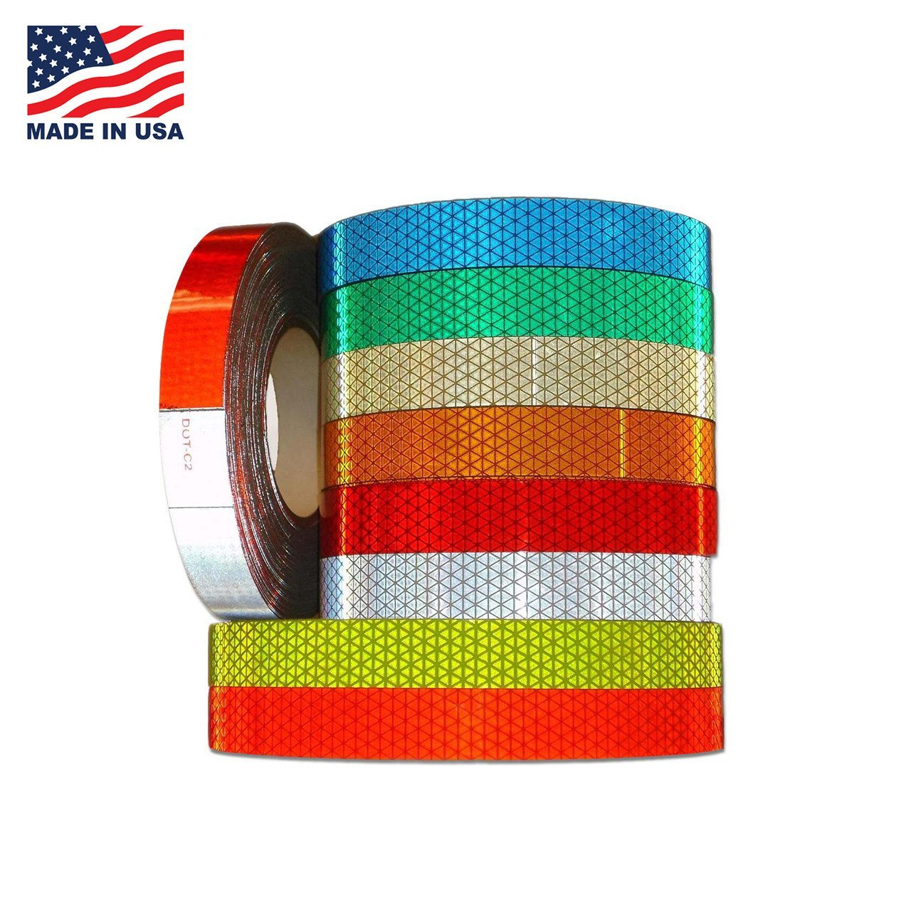 "DOT Reflexite Conspicuity Solid Colors - Reflexite V92 Tape (V92DB) (Red, 3"" (75mm), Subpack)"
