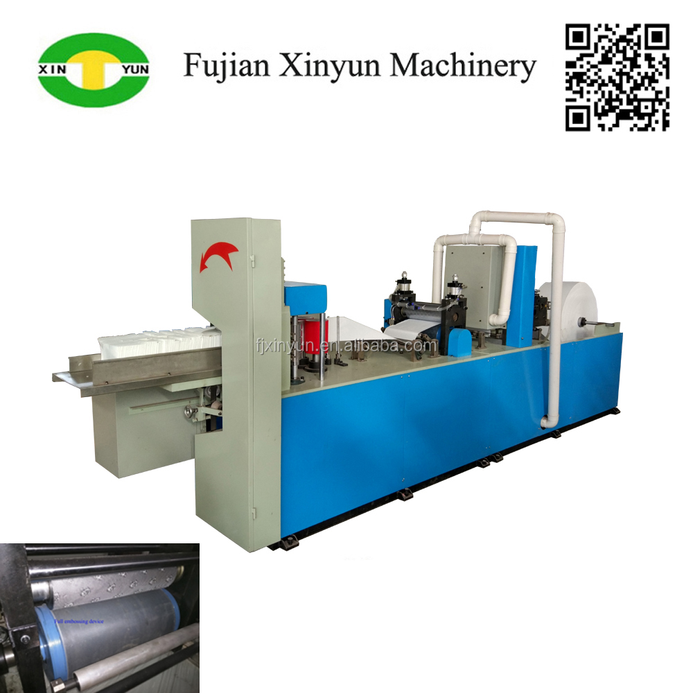 High performance napkin paper steel to rubber embossing machine