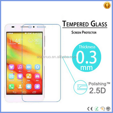 New products clear gold tempered glass screen protector para huawei honor 6 smartphone protectores de cine