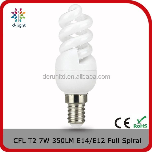 CE UL Energy saving lamps CFL sprial U type T2 T3 T4 tube light