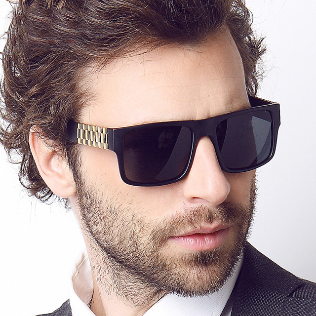 Brand Design Men Sunglasses Black Frame Fashion Anti-UV 400 Sun Glasses  Square Oculos De 7b40168b1ad