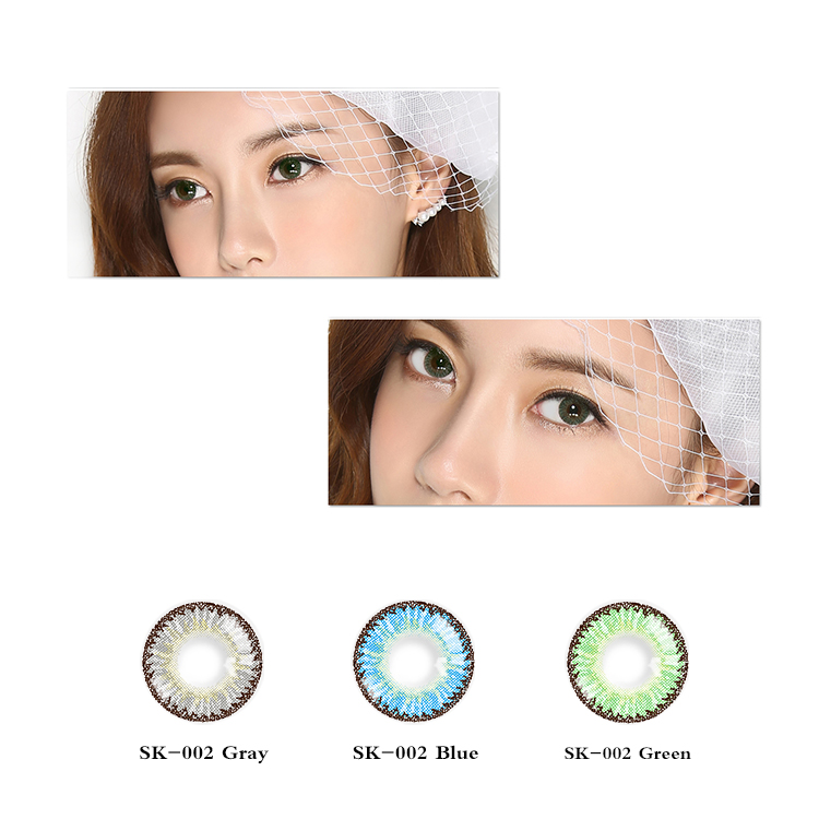 Coloured 화장품 Contact 렌즈로 구성 눈 액세서리 연간 Color Lens 0 Degree (Retro Brown 1 Pair)