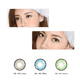 Coloured Cosmetic Contact Lenses Eye Accessory Yearly Color Lens 0 Degree (Retro Brown 1 Pair)
