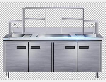 Peralatan Dapur Stainless Steel Bar Komersial Harga Langsung Custom Made Meja Kerja