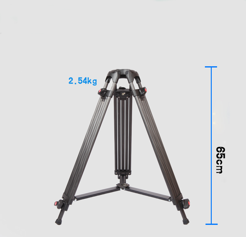 Professional Black with Fluid Head Camcorder Carbon Fiber Video Tripod