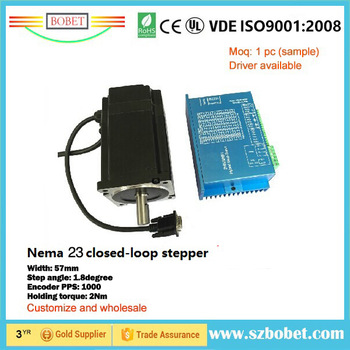 DC motor nema 23 stepper motor closed loop stepper motor with encoder made in china