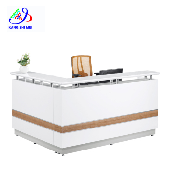 luxury and modern office reception table for beauty salon spa R009