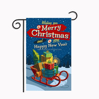 Wholesale outdoor Personalized Christmas Garden Flag
