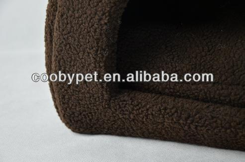 Brown sherpa fleece dog hood