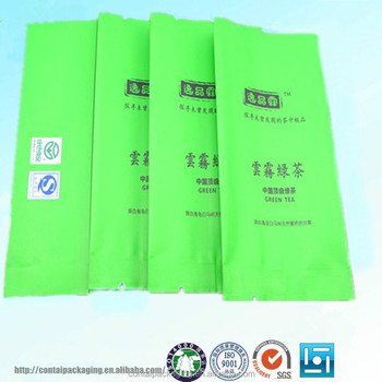 Free Samples Supply Small Aluminum Foil Tea Packaging Bags Empty Plastic Bag China Supplier