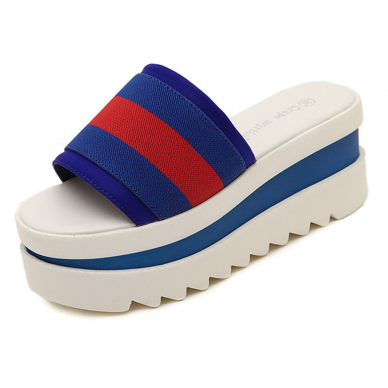 New Hot Sale Women Sandals 2015 Summer Style Fashion Women Sandal Beach Flip Flops Slippers Female Platform Wedge Sandals