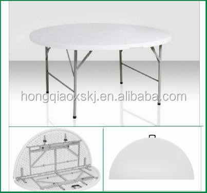 Delicieux 4 5 6 Plastic Fold Half Moon Banquet Table Round Rotating Dining