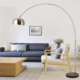 High Quality Chinese Light Modern Fishing Wrought Iron Floor Lamp