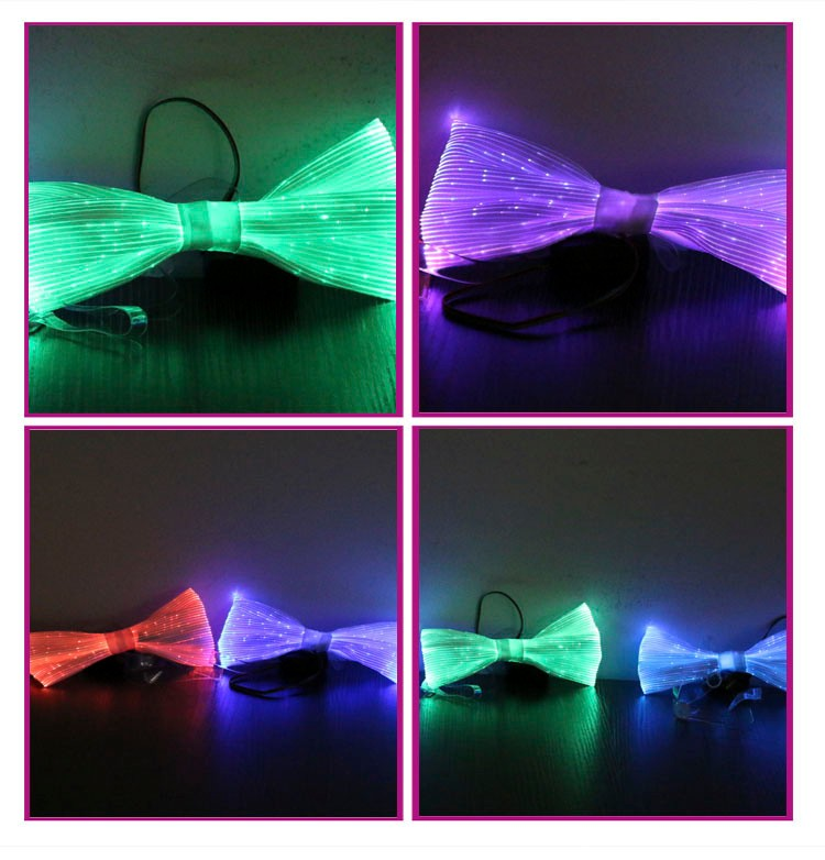 Newest Luminous Mens Led Light Up Glow-in-the-dark Bow Ties