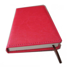 ringed notebook logo embossed pu leather handmade journal
