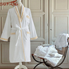 Waffle pattern cotton fabric unisex wholesale hotel bathrobe in customized brand