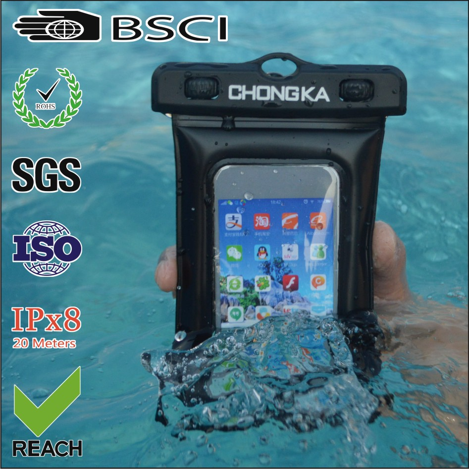 colorful swimming waterproof phone case for iphone5 with IPX8 certificate