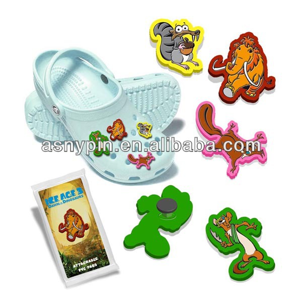 soft pvc cartoon shoelace charm shoe decoration for kids