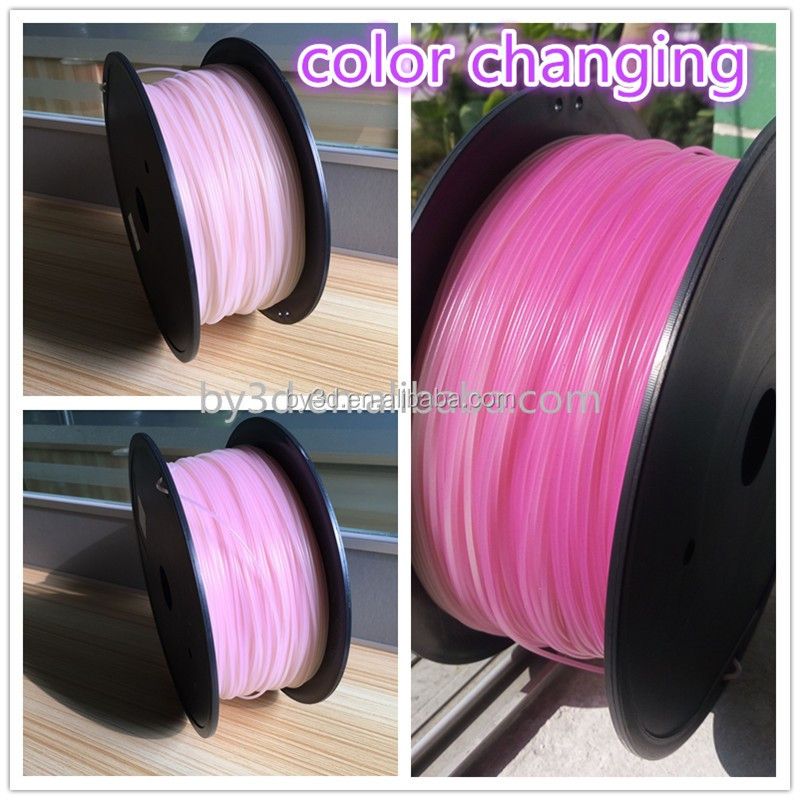 New Premium PLA Color Changing Under Sunshine 3D printer Filament 1.75MM 3.0MM 3D Filament