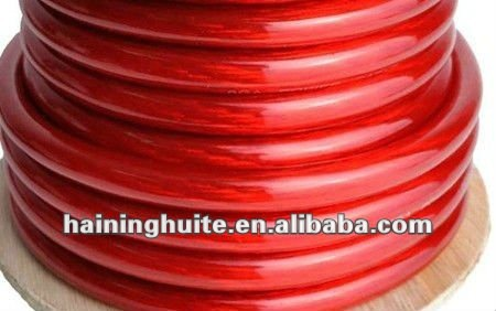 Transparent Red Car Audio Power Ground Wire Cable
