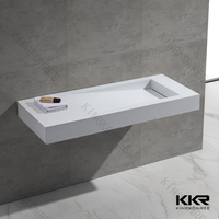 Artificial stone sanitary ware corians fancy bathroom sink