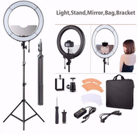 "RL-18 Camera Photo Video 18"" 55W 240PCS LED 5500K Dimmable Photography Ring Video Light for Camera Fill Light"