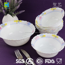 Opal dinner set 7pcs opal glass bowl set glass salad bowl
