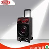 1.0 professional pa system waterproof speaker case with stage light and trolley
