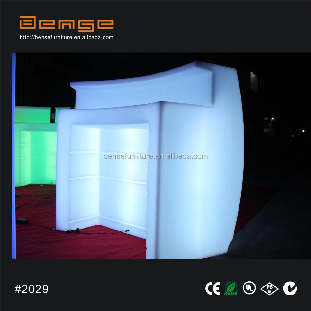 draagbare verlichte dj booth led verlichting bar teller