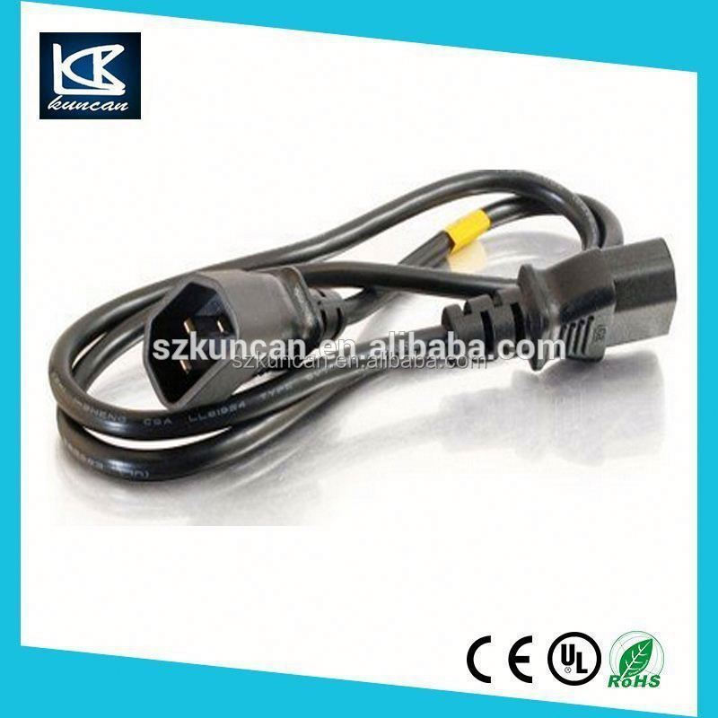 US VDE approval IEC 320-C14 to IEC 320-C13 LOCKING AC power extension cord IEC Lock C13 cord c13 c14 connector power cord