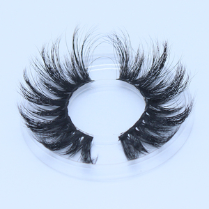 2019 hot selling 25mm eyelashes private label mink eyelashes with magnetic box